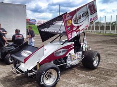 """""""The King"""" Steve Kinser Bad Boy Sprint Car Ready for Action at The Bullring  River Cities Speedway, Grand Forks, ND 6-21-13"""