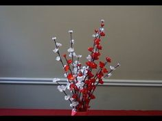 How to make paper flowers - cherry blossoms - YouTube