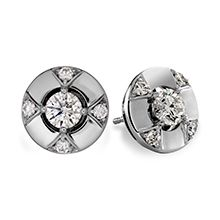 Copley Five Diamond Studs (also available in 18K yellow and rose gold)  #diamonds #CopleyCollection | heartsonfire.com