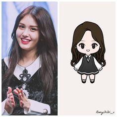 JEON SOMI . . ♥ BEĞEN~YORUM YAP~KAYDET ♥ . İstek:@tbf_somsomi03 . #itsmychibixidolposts . . #oppadoll #unniedoll . #jeonsomi#somi#ioi… Wallpaper Stickers, Jeon Somi, Kpop Drawings, Red Velvet Irene, Chibi, Digital Art, Fanart, Doodles, Kawaii
