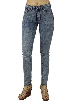 Alfa Global Juniors HighRise Skinny Acid Wash Denim Pants Size 5 *** Click image for more details. (This is an affiliate link) Casual Jeans, Jeans Style, Flannel Lined Jeans, Acid Wash Jeans, Denim Pants, Women's Jeans, Fashion Pants, Pants For Women, Skinny Jeans