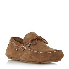 Tommy Hilfiger Monte 3b suede lace up driver loafers, Camel