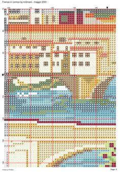Firenze in cornice 10 Dream Catcher Boho, Cornice, Cross Stitch Designs, Scenery, Detail, Places, Prints, Paisajes, Landscape