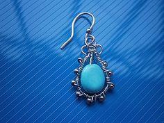 Making wire turquoise earrings |  Fair Masters - handmade, handmade