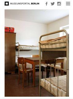 Notaufnahmelager Berlin Marienfelde; Erinnerungsstätte. Hier ein Zimmer für eine Familie