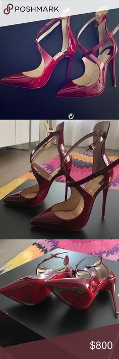 Gorgeous Christian Louboutin Shoes The shoes were only worn only few times , tey are in great condition. Come with box and dust bag Christian Louboutin Shoes Heels