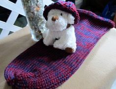 Blue And Red Baby Snuggle Cocoon For Swaddling   SherryCreates - Knitting on ArtFire