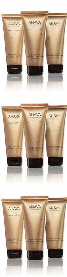 Hand and Nail Treatment Creams: Ahava Mineral Stars Body Lotion Hand Cream Foot Cream Lot New Limited Gold Tube BUY IT NOW ONLY: $32.99