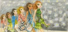~Leads The Runway Papyrus-Mercedes Benz NY Fashion Week Art by Bella Pilar