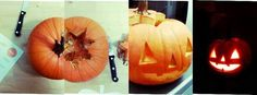come fare una zucca jack o lantern Pumpkin Carving, Halloween Party, Lanterns, Vegetables, Blog, Recipes, Recipies, Pumpkin Carvings, Lamps