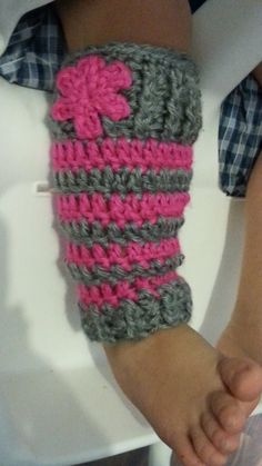 How to - Crochet Baby Leg Warmers #TUTORIAL (crochet) (how to)