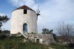 GREECE: Ruined and ☹️ abandoned ancient windmills (island of Salamina) Le Moulin, Byzantine, Athens, Future House, Abandoned, Greece, Mansions, House Styles, Building