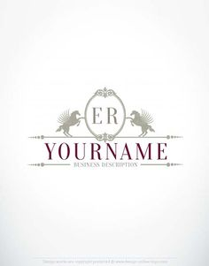 Free logo maker create your own crown unicorn logo design exclusive logo design horses frame logo free business card ready made exclusive alphabet logo template with horses holding frame initials logo image reheart Gallery
