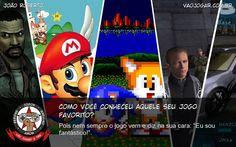 """Como Você Conheceu Aquele Seu Jogo Favorito? - Pois nem sempre o jogo vem e diz na sua cara: """"Eu sou fantástico!"""".  #VaoJogar #VideoGame #VideoGames #Jogos #Games #Sonic2 #Mario64 #GoldenEye #TheWalkingDead #NeedForSpeedUnderground"""