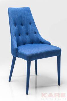 Gamble Niebieskie Krzesło Tkanina - 2