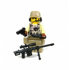 Camouflage Special Forces Sniper Made With Real LEGO(R) Mini-Figure Parts