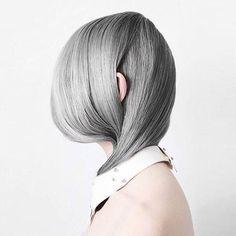 👽 Grey is I N  @lunahabit #haircrush #salonjakarta #style #zalonku #glamteam #jakarta #lob