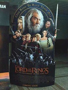 Lord of the RIngs Standee