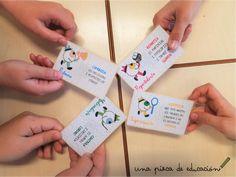 Tarjetas para descargar los roles de los equipos cooperativos. Según la metodología de aprendizaje cooperativo. Material grupos cooperativos.