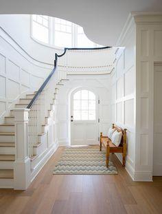 Foyer wainscoting. Amazing gallery of interior design and decorating ideas of Foyer Wainscoting in entrances and foyers. #Foyer #Wainscoting…