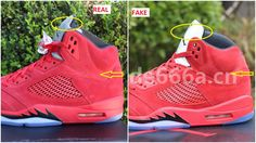 0b656c0dd8a Fake Air Jordan 5 University Red Suede Spotted-Quick Ways To Spot Them