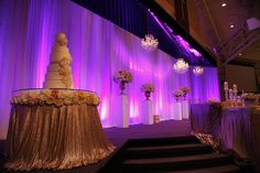white wedding cake, bling, chandeliers...