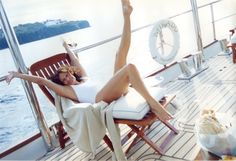 Diane sailing around Italy's Costa Amalfitana in 2006. Photo by Anh Duong http://on.dvf.com/1MukppQ #DVFsummer