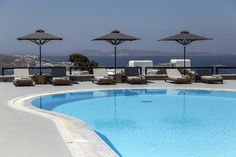Set in the cosmopolitan Mykonos Town, 2625 feet from the Old Port, the boutique My Mykonos Hotel features a seasonal outdoor pool and a furnished sun. Mykonos Hotels, Mykonos Town, Outdoor Pool, Outdoor Decor, Old Port, Beautiful Villas, Summer Is Here, Greek Islands, Luxury Villa