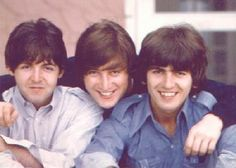 Paul, John and George. Just a cute picture showing how close these boys were.....