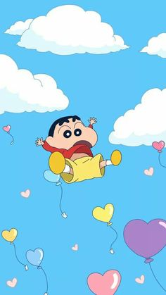I 'm flying Sinchan Wallpaper, Cartoon Wallpaper Iphone, Cute Disney Wallpaper, Cute Cartoon Wallpapers, Kawaii Wallpaper, Aesthetic Iphone Wallpaper, Crayon Shin Chan, Sinchan Cartoon, Whatsapp Wallpaper