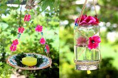 butterfly jar feeder DIY