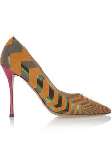 sale €292.50 Original price €650 Nicholas Kirkwood Suede and leather pumps