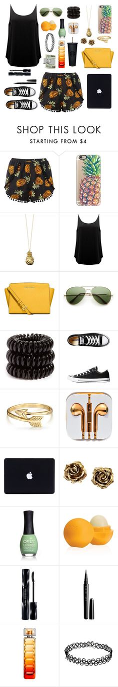 """""""Eat. Sleep. Beach. Repeat."""" by ahriraine ❤ liked on Polyvore featuring Casetify, Catherine Zoraida, BA&SH, Michael Kors, Invisibobble, Converse, Bling Jewelry, Tiffany & Co., ORLY and Eos"""