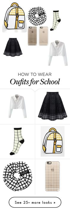 """""""school sorted"""" by unicorn-636 on Polyvore featuring JumpFromPaper, SCENERY, Casetify and WithChic"""