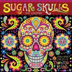 This Sugar Skull Coloring E-Book contains 21 pages of Day of the Dead skulls for you to color and print as many times as you want!