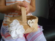 Flower girl basket but with a bow tied on instead of flower