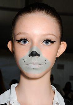 Grey Mouse Halloween Makeup