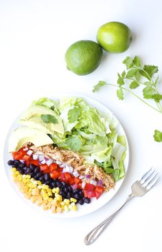 BBQ Chicken Chop Salad with Cilantro Lime Dressing