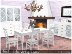 Lillie diningroom at Sims by Severinka