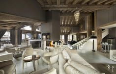 World class luxury ski holiday Chalet Tahoe in Courchevel 1850 available to book through Ultimate Luxury Chalets. Fully Catered, Swimming Pool, Hot Tub, Steam Room, Cinema, Gym.