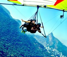Hang gliding over Rio. Have to add that to my bucket list.
