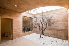 Architecture, Green renovation, china, green renovation, rammed earth walls, Chinese architecture, skylight, Gallery, carousel showcase, cave architecture, energy efficiency, cave house, cave homes, Shanxi Province, modern cave home, Wow New Home, hyperSity Architects, Chinese courtyard house, cave renovation