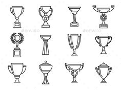 Trophy Icons. Download here: https://graphicriver.net/item/trophy-icons/15391865?ref=ksioks