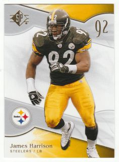 James Harrison   23 - 2009 Upper Deck SP Authentic Retail Football Steelers  Football 8a60260ae