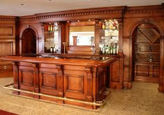 wood bars - do this to the door leading to utility room? Basement Bar Plans, Basement Bar Designs, Home Bar Designs, Basement Remodeling, Bar Furniture For Sale, Home Bar Furniture, Furniture Ideas, Custom Home Bars, Bars For Home