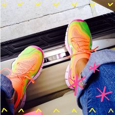 Nike free flyknit on my feet. I love these shoes!!!!