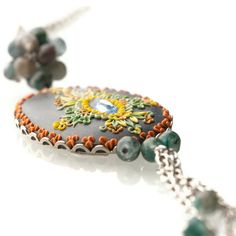 long evening walk precious long necklace by ChiliCrab on Etsy