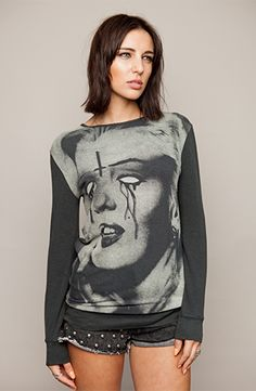 Drop Dead - Monroe Crew Neck - £45 - http://store.iheartdropdead.com/product.php/5813/monroe