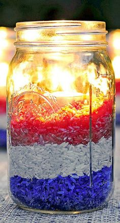 4th of July candle