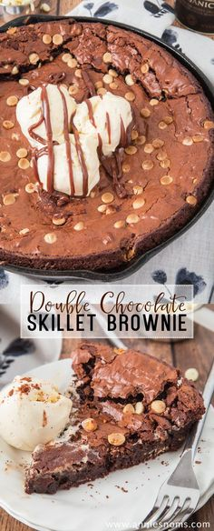 Double Chocolate Skillet Brownie